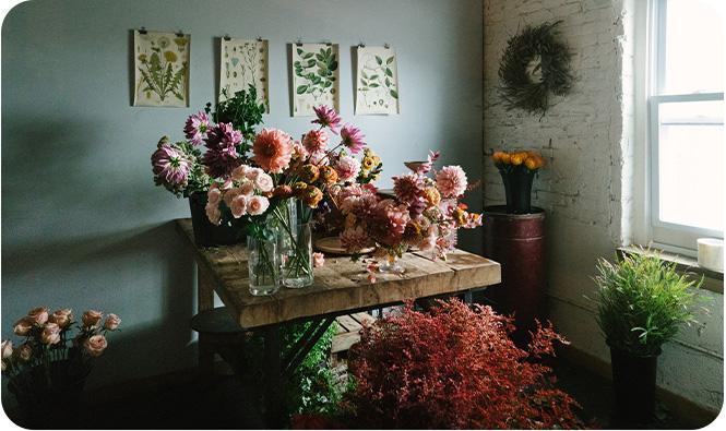Kwiaty wwazonach